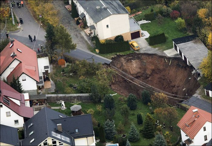 Giant Sinkholes and Road Collapses