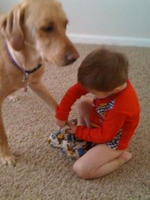 Kid and Dog Friendship