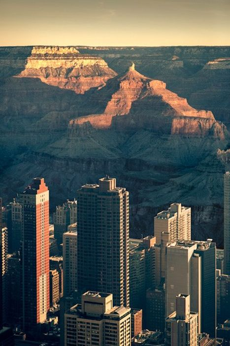 If Manhattan Was Located in Grand Canyon
