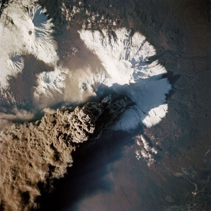 Volcanic Eruptions as Seen from Space