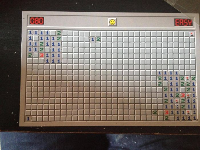 Minesweeper Scratch Off Postcard