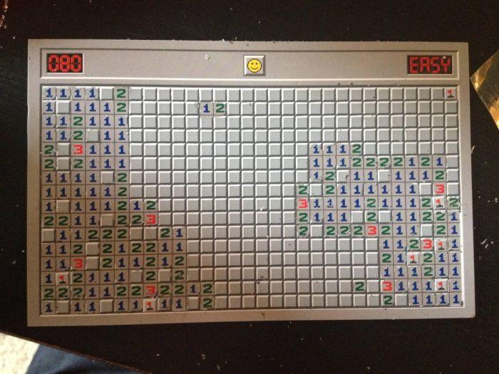 Minesweeper Scratch Off Postcard