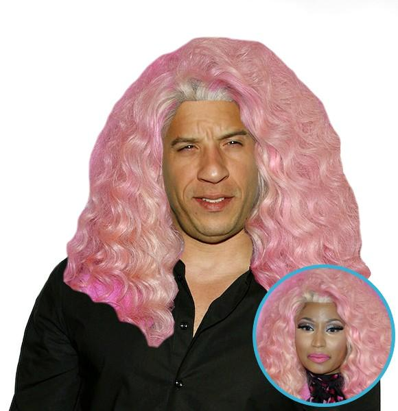Vin Diesel With Other Celebrities' Hair
