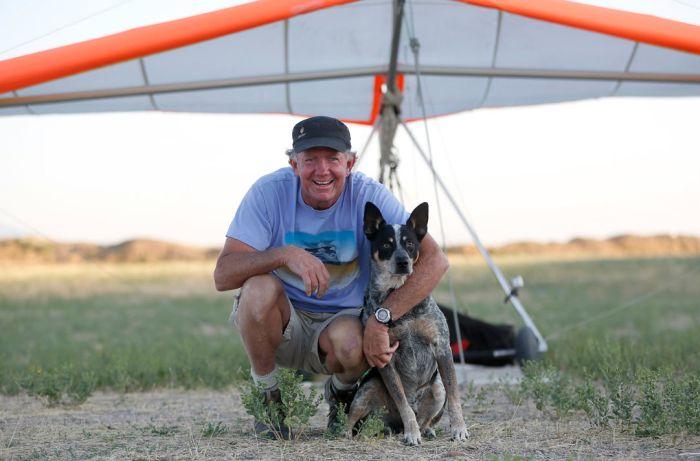 Paragliding Dog