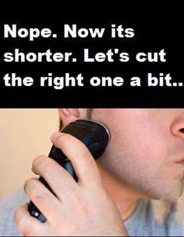 Shaving Fail
