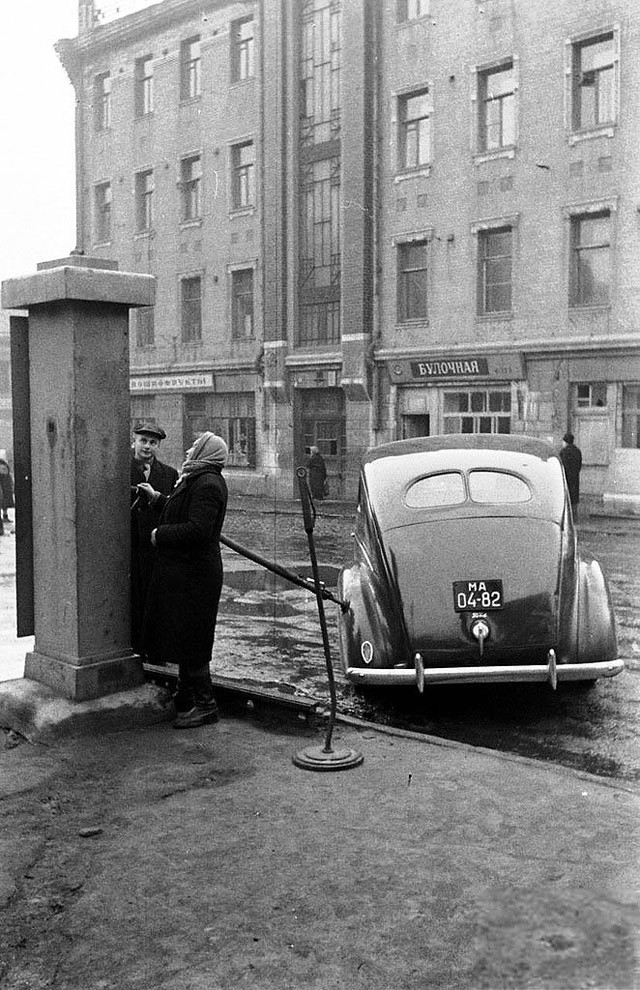Gas stations in the past in the Soviet Union
