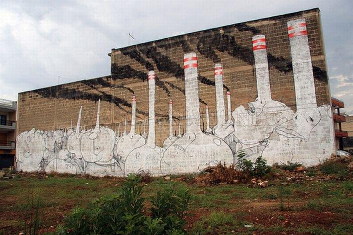 Amazing Street Art by BLU