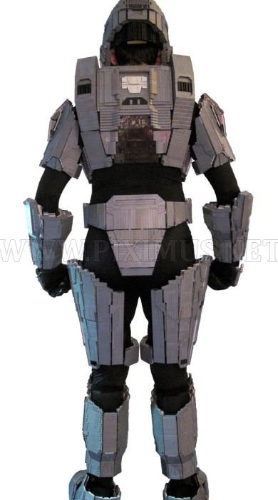 Master Chief Armor Made Out of Lego