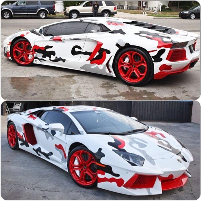 Chris Brown S Lamborghini Aventador Celebrities