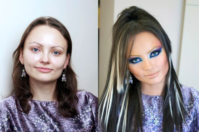 Girls With and Without Makeup, part 3