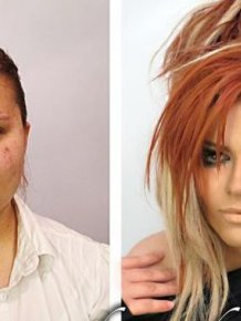 Girls With and Without Makeup