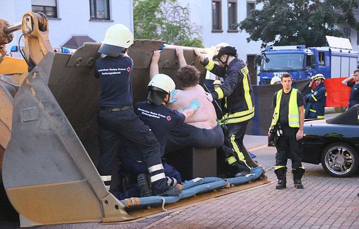 Firefighters Rescued a Giant Man