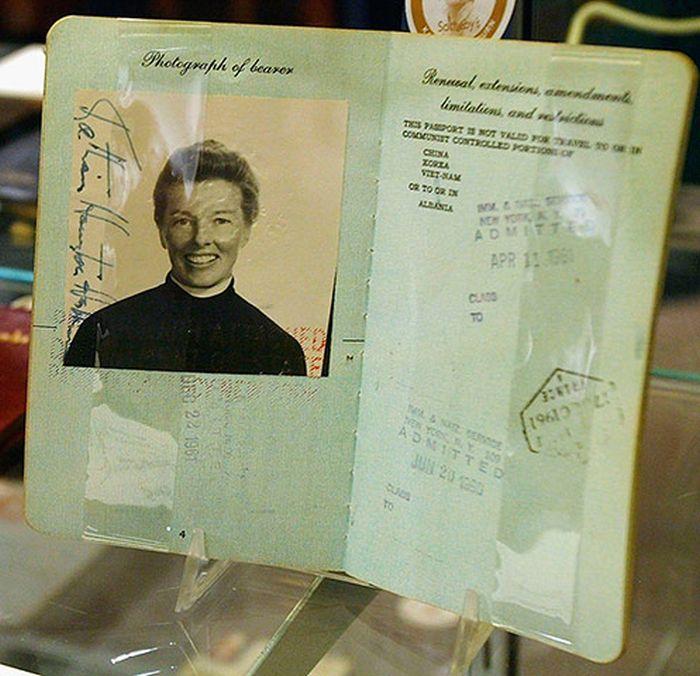 Vintage Celebrity Passport Photos