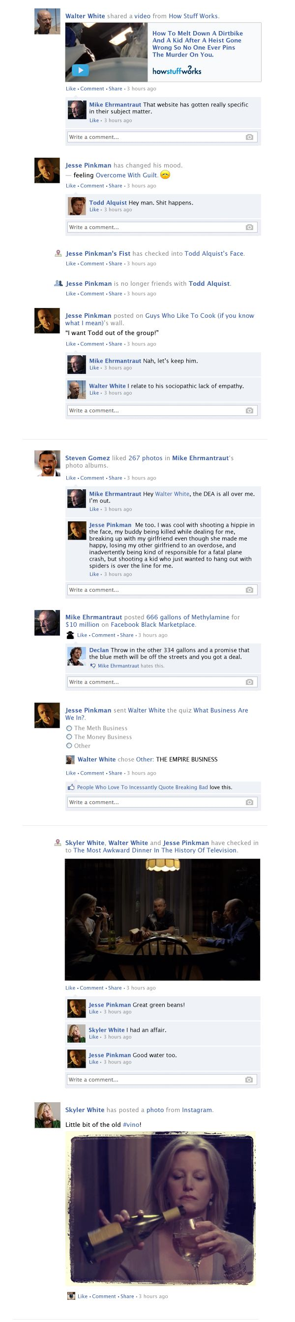 If Breaking Bad Took Place Entirely on Facebook