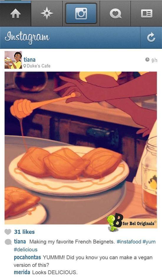 If Disney Princesses had Instagram…