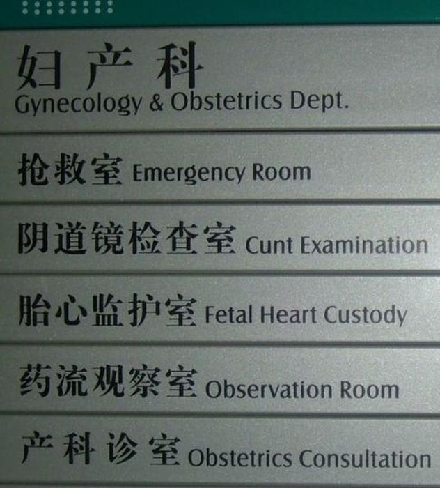 Lost in Translation Chinese Signs