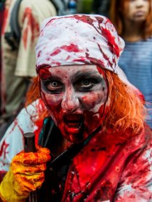Zombie Walk in Saint Petersburg, Russia
