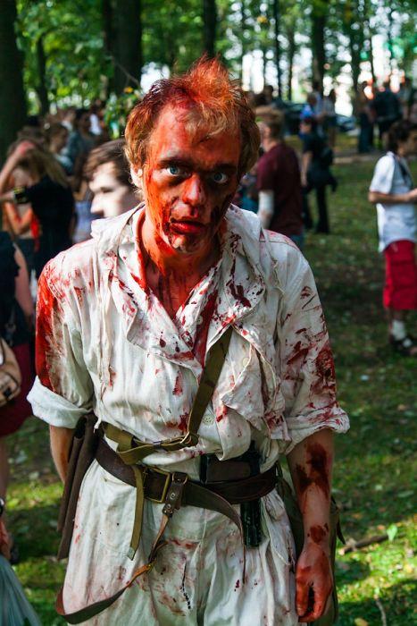 Zombie Walk in Saint Petersburg, Russia