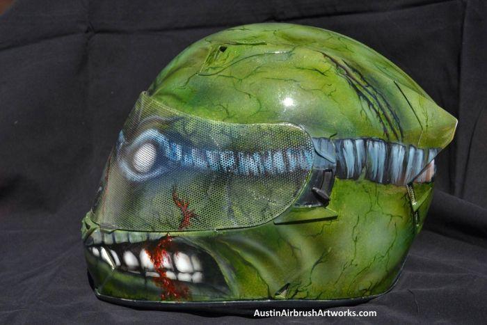 Ninja Turtle Airbrushed Motorcycle Helmet