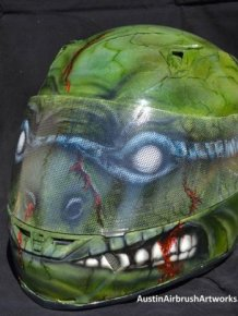Ninja Turtle Airbrushed Motorcycle Helmet