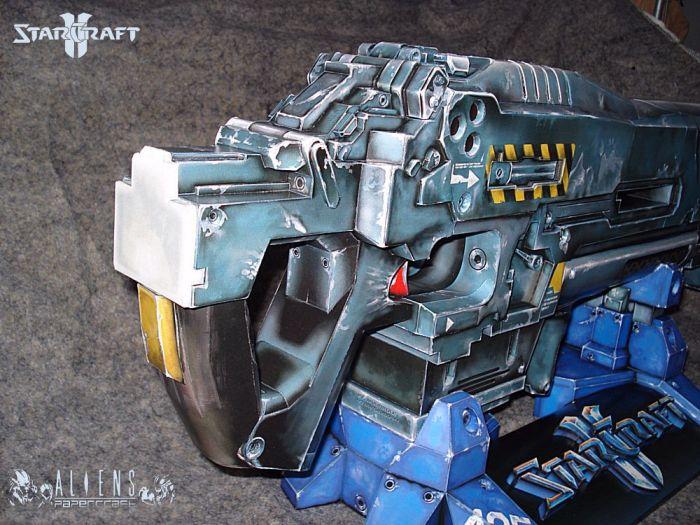 Papercraft Terran Marine Cannon