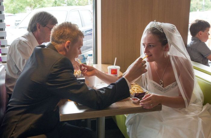 Wedding in McDonald's