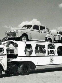 Vintage American car transporters