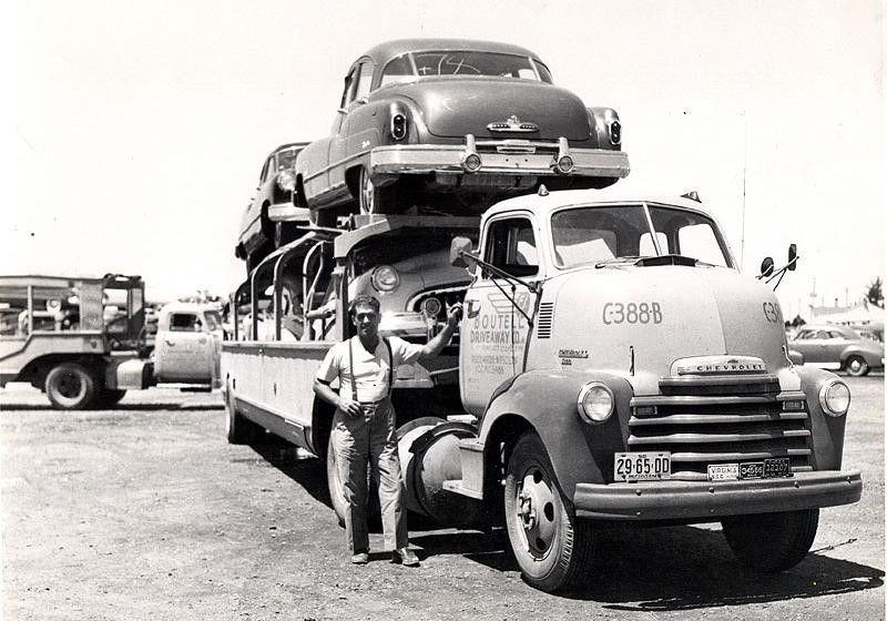 Vintage American Car Transporters Vehicles