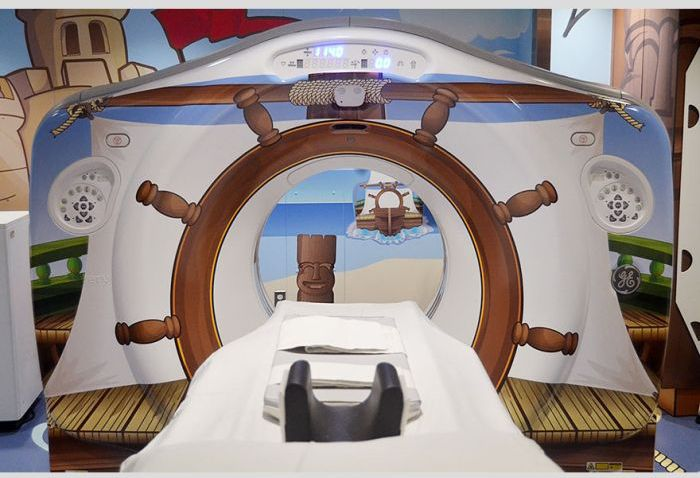 Pirate-themed CT Scanner