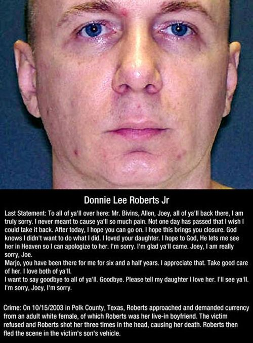 Last Words Of Death Row Inmates