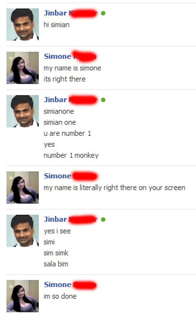 Stupid Facebook Chats
