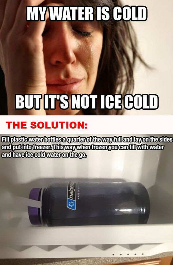 How to Solve Some of the First World Problems