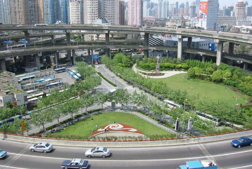 Round Nanpu Bridge in China