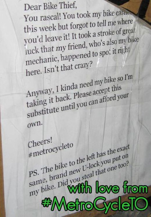 How to Teach Bike Thief a Lesson