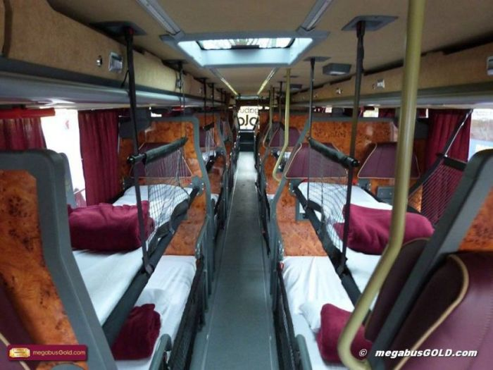 Bus with Beds by Van Hool