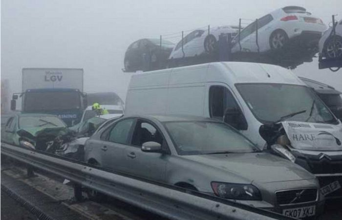 Massive Car Crash in the UK