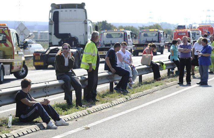 Massive Car Crash in the UK