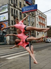 Street Pole Dancing in Poland