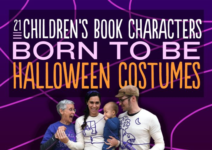 Children's Book Characters as Halloween Costumes