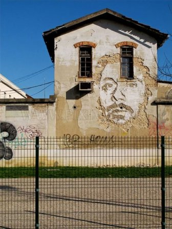 Chipped Wall Portraits by Vhils