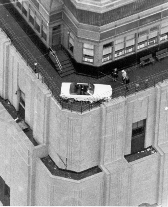 Ford Mustang on top of the Empire State Building