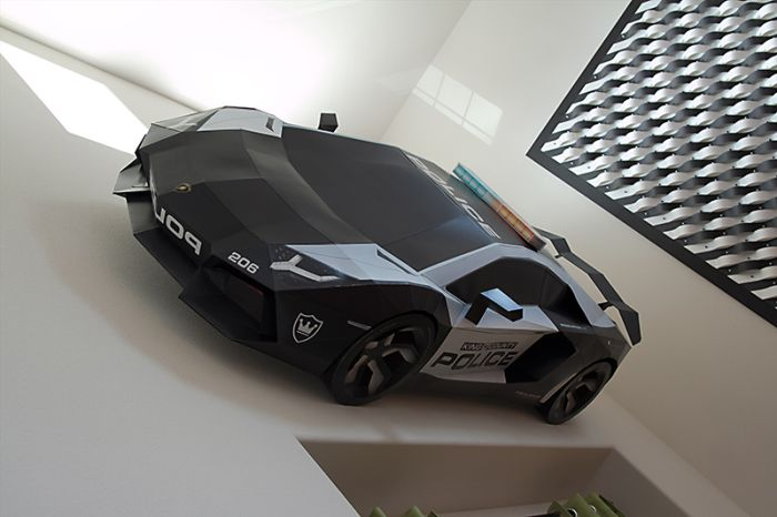 Papercraft Lamborghini Aventador A-E2