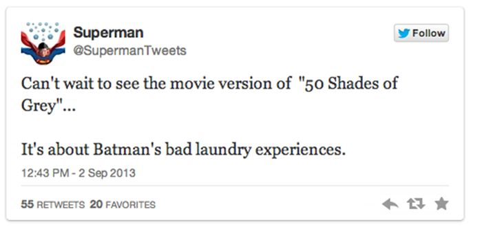 Funny Superhero Tweets
