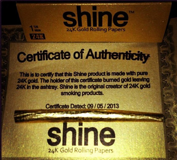 24-Carat Gold Rolling Papers