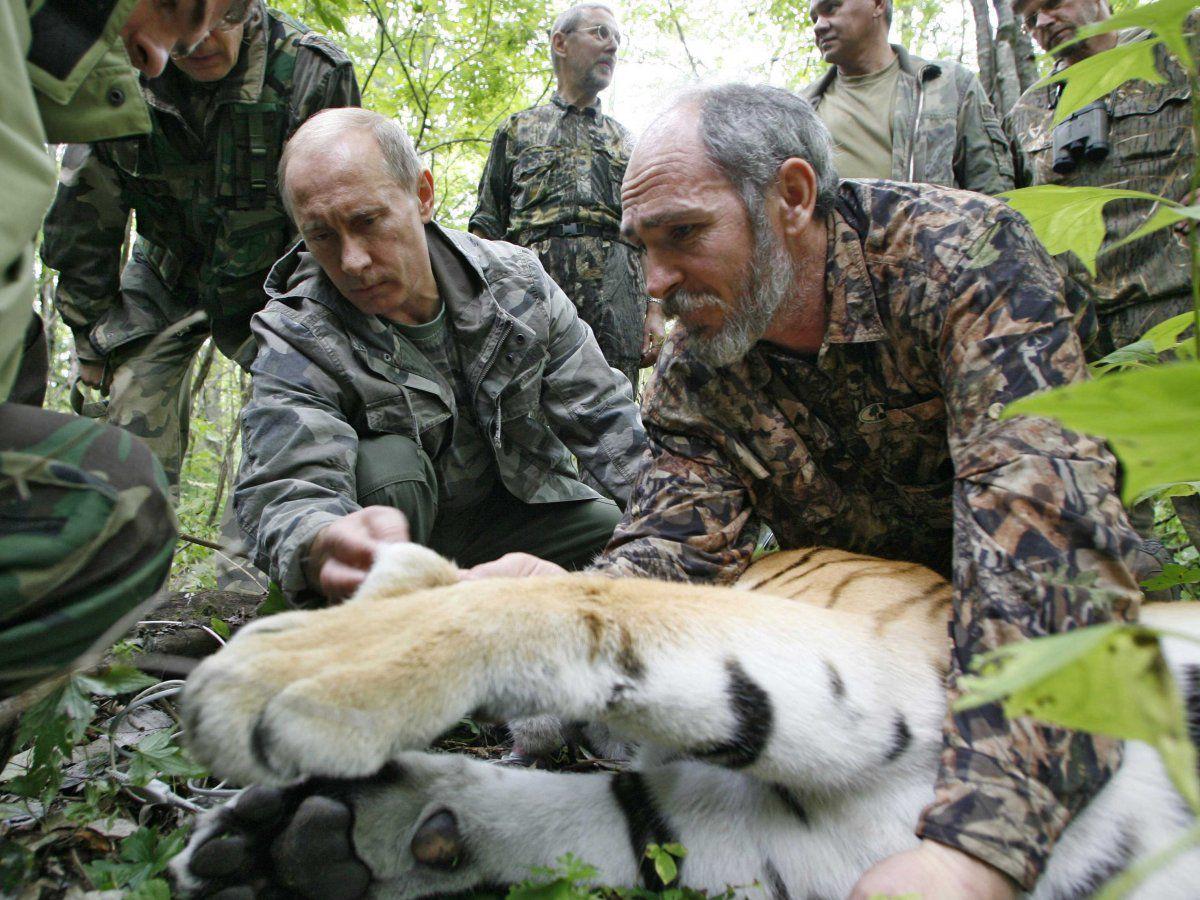 Fearless Russian president Vladimir Putin