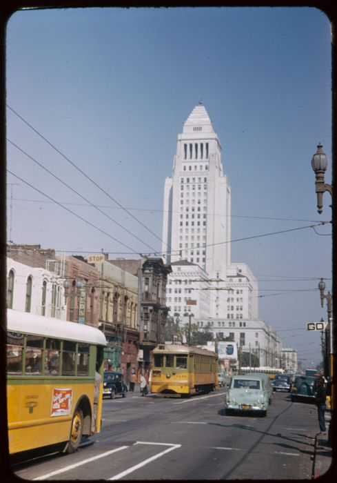 Downtown Los Angeles in 1952 and Now