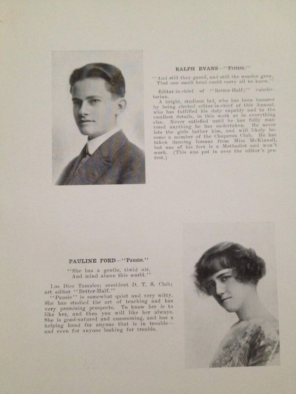Yearbook from 1913, part 1913