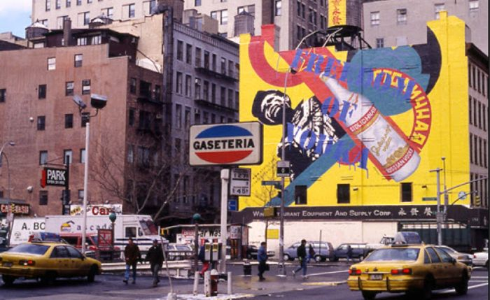 Downtown Manhattan in the 1990s