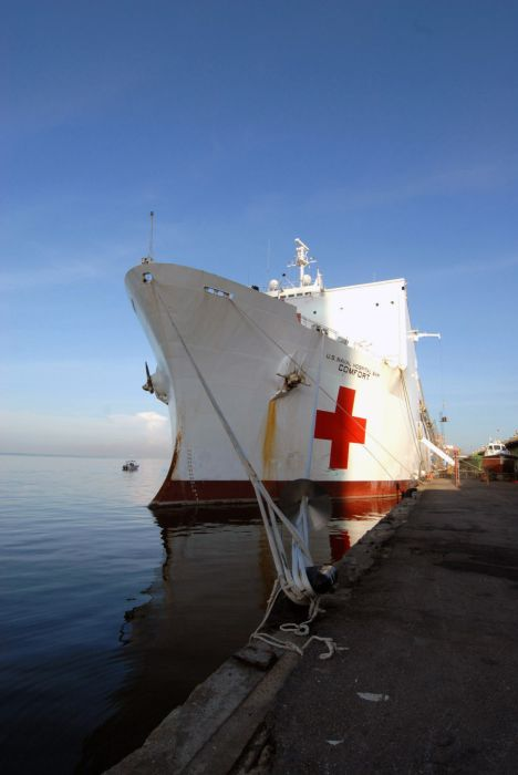 USNS Mercy and USNS Comfort