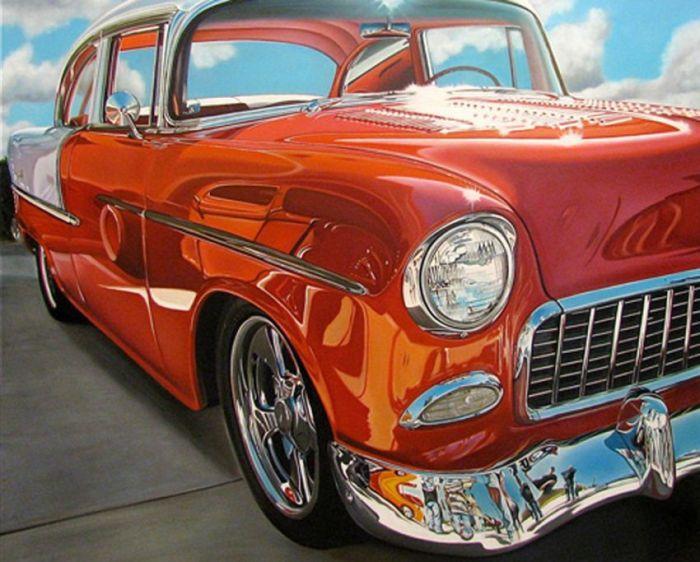 Classic American Car Paintings